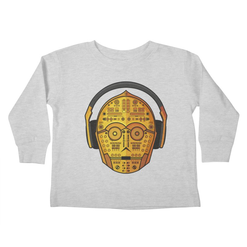 DJ-3PO Kids Toddler Longsleeve T-Shirt by Tony Bamber's Shop