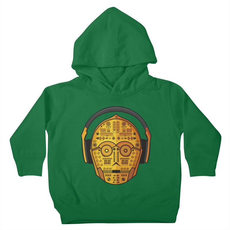 DJ-3PO Kids Toddler Pullover Hoody by Tony Bamber's Shop