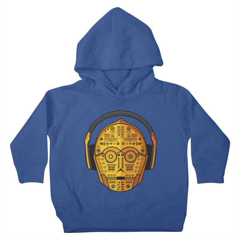 DJ-3PO Kids Toddler Pullover Hoody by Tony Bamber's Artist Shop