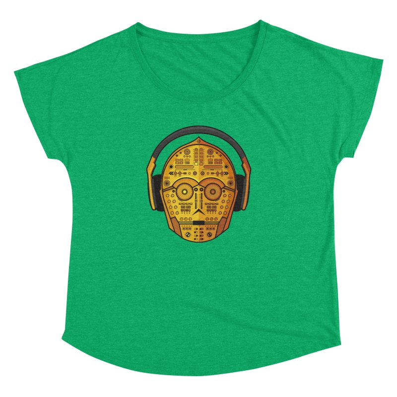 DJ-3PO Women's Dolman Scoop Neck by Tony Bamber's Artist Shop