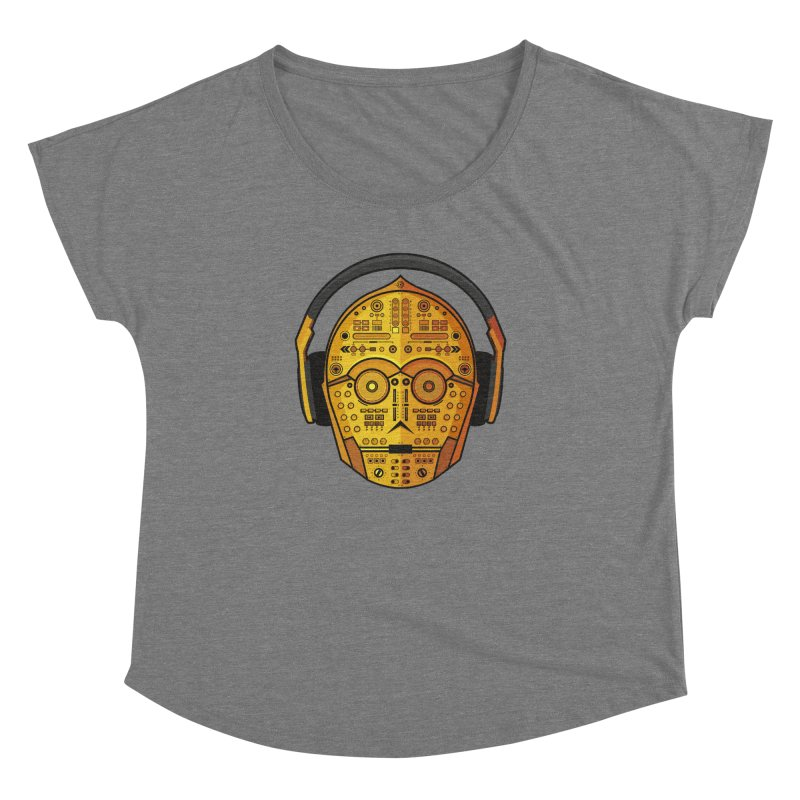 DJ-3PO Women's Dolman Scoop Neck by Tony Bamber's Shop