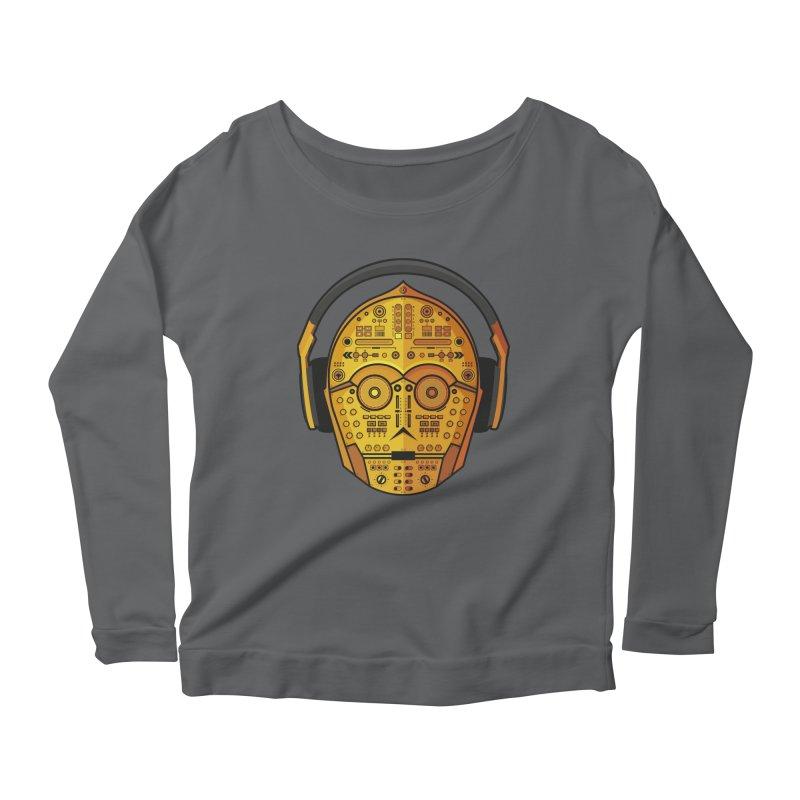 DJ-3PO Women's Scoop Neck Longsleeve T-Shirt by Tony Bamber's Shop