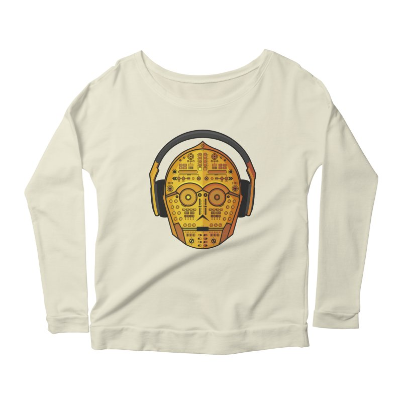 DJ-3PO Women's Longsleeve Scoopneck  by Tony Bamber's Artist Shop