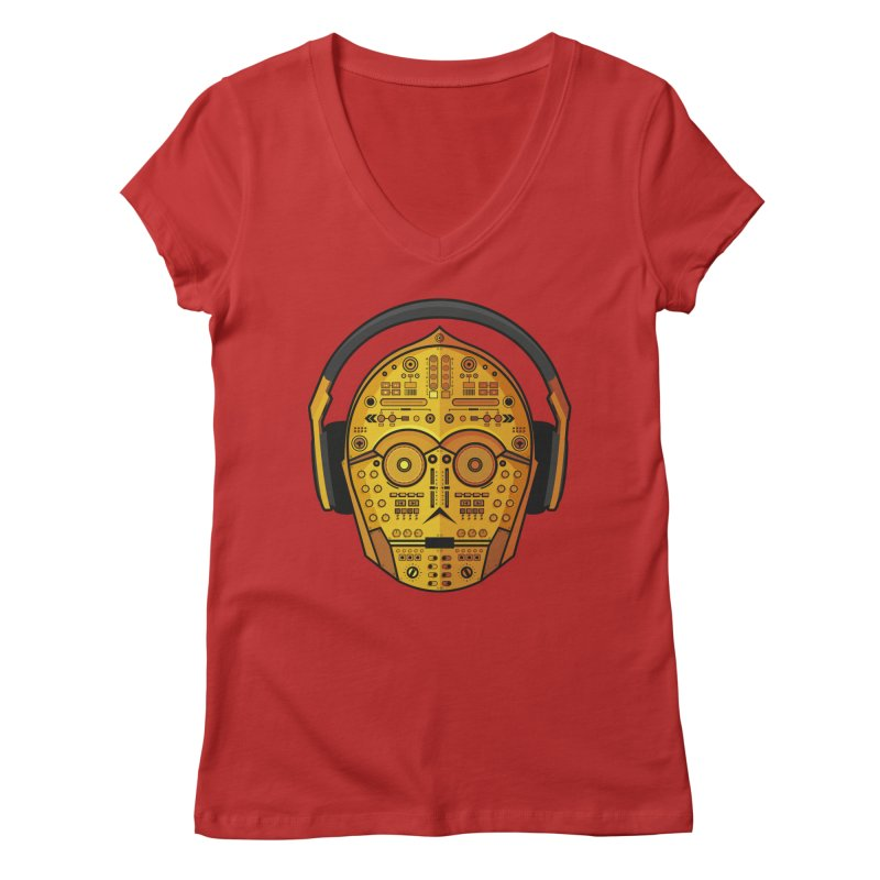 DJ-3PO Women's Regular V-Neck by Tony Bamber's Shop