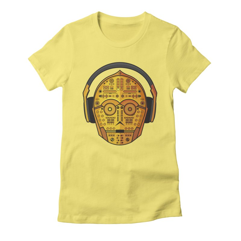 DJ-3PO Women's Fitted T-Shirt by Tony Bamber's Artist Shop