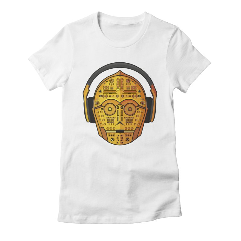 DJ-3PO Women's Fitted T-Shirt by Tony Bamber's Shop