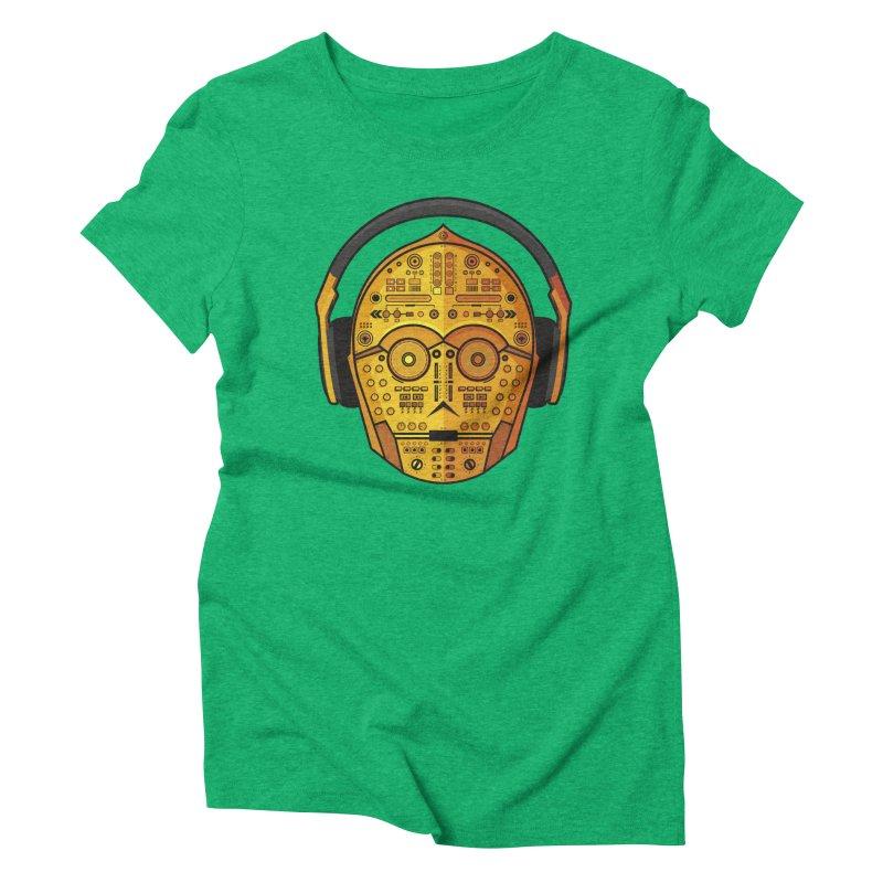 DJ-3PO Women's Triblend T-Shirt by Tony Bamber's Artist Shop