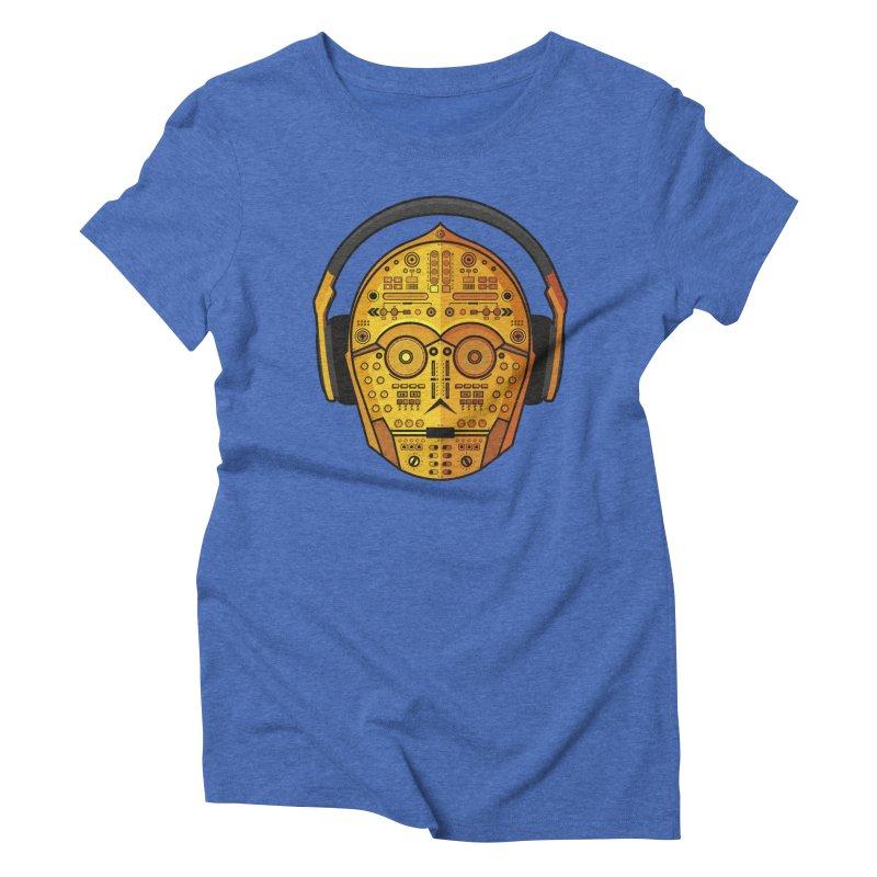 DJ-3PO Women's Triblend T-Shirt by Tony Bamber's Shop