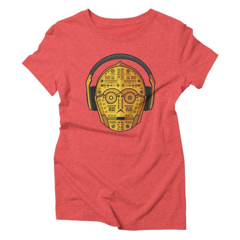DJ-3PO Women's Triblend T-shirt by Tony Bamber's Artist Shop