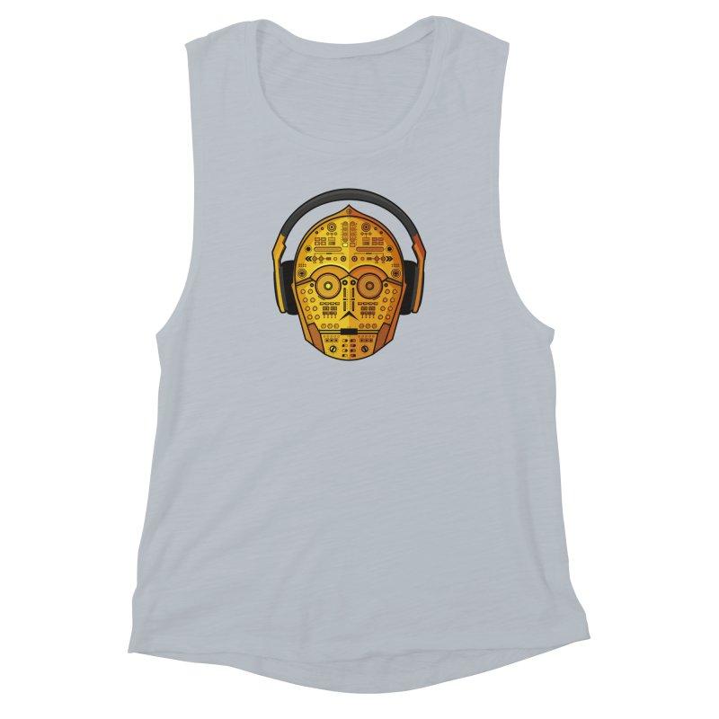 DJ-3PO Women's Muscle Tank by Tony Bamber's Artist Shop