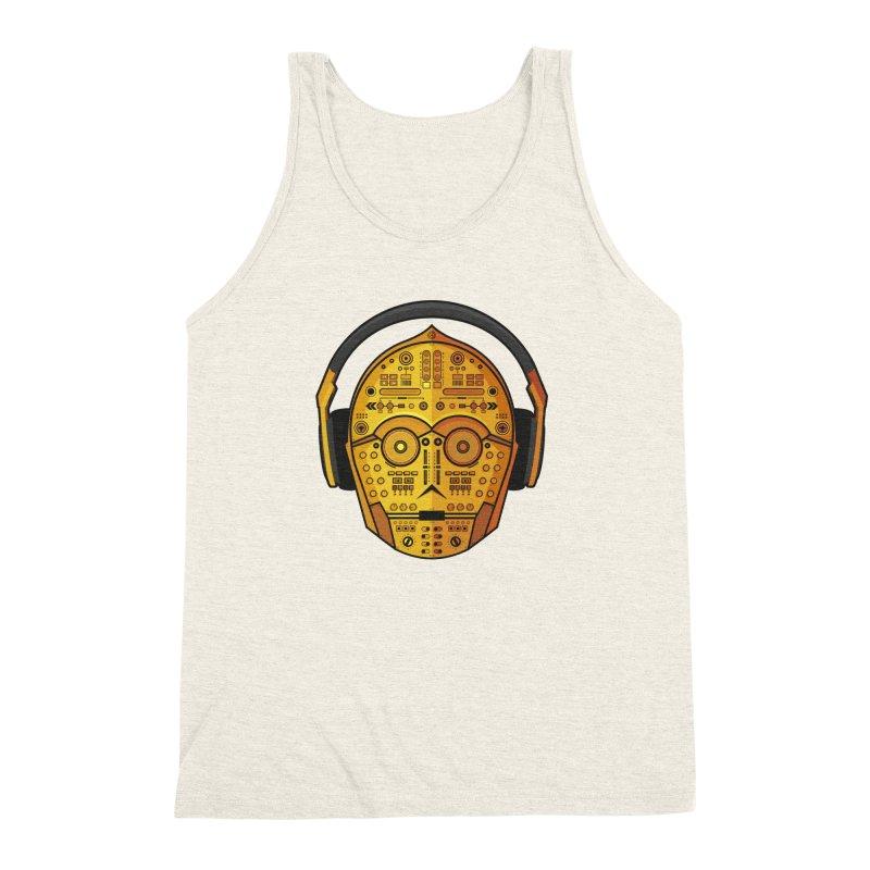 DJ-3PO Men's Triblend Tank by Tony Bamber's Artist Shop