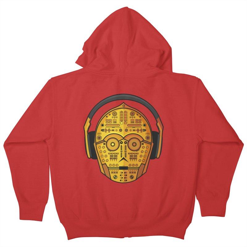 DJ-3PO Kids Zip-Up Hoody by Tony Bamber's Artist Shop
