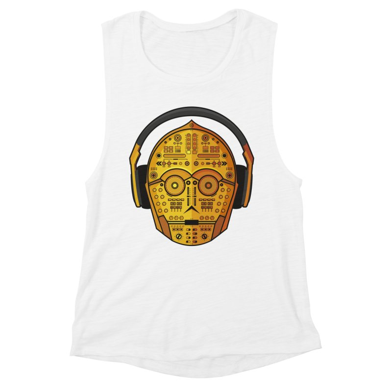 DJ-3PO Women's Muscle Tank by Tony Bamber's Shop