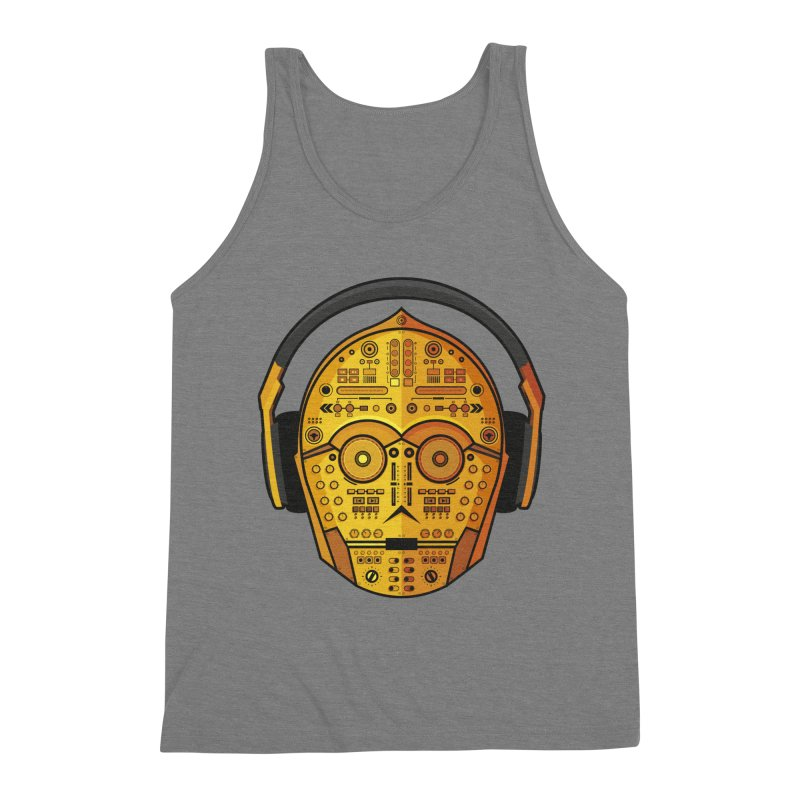 DJ-3PO Men's Triblend Tank by Tony Bamber's Shop
