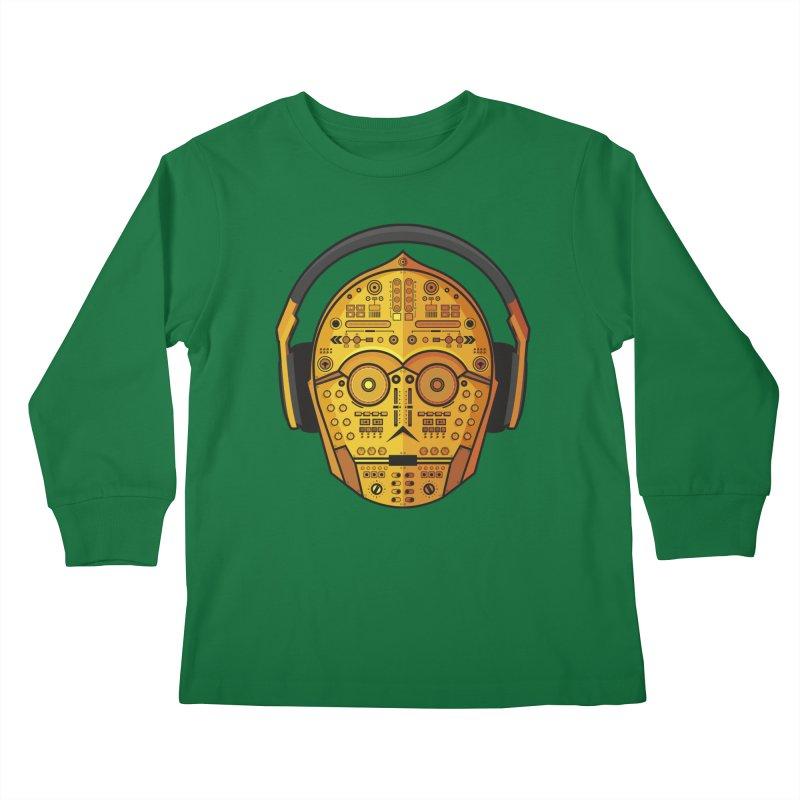 DJ-3PO Kids Longsleeve T-Shirt by Tony Bamber's Shop