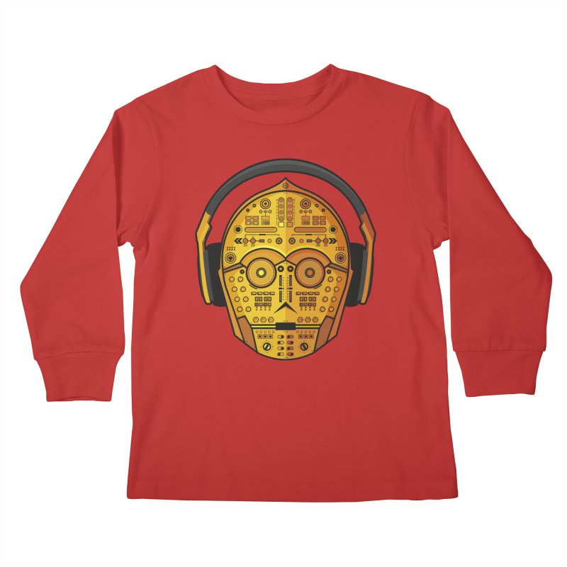 DJ-3PO Kids Longsleeve T-Shirt by Tony Bamber's Shop