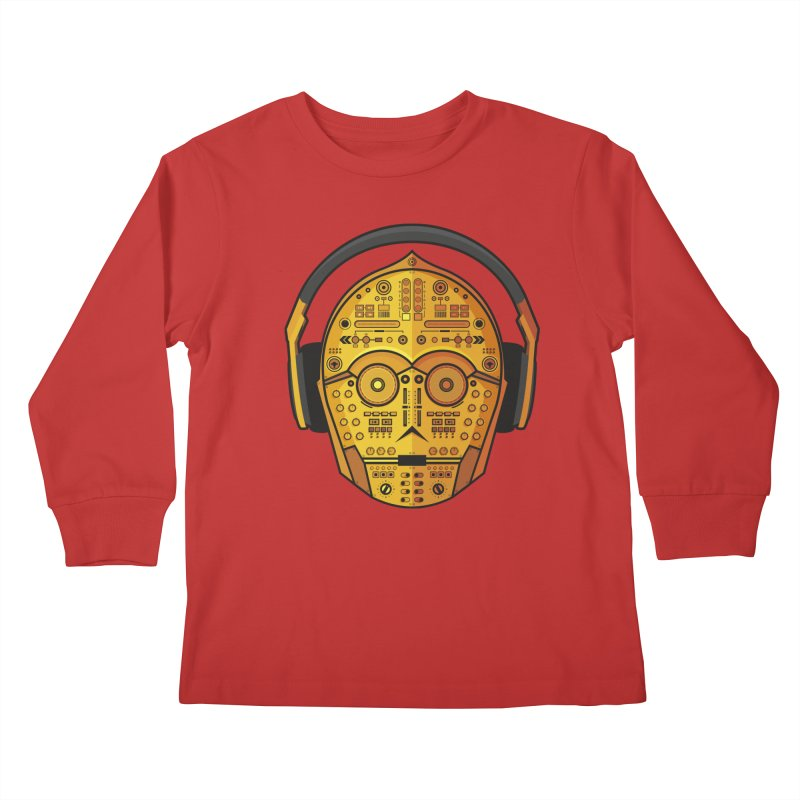 DJ-3PO Kids Longsleeve T-Shirt by Tony Bamber's Artist Shop