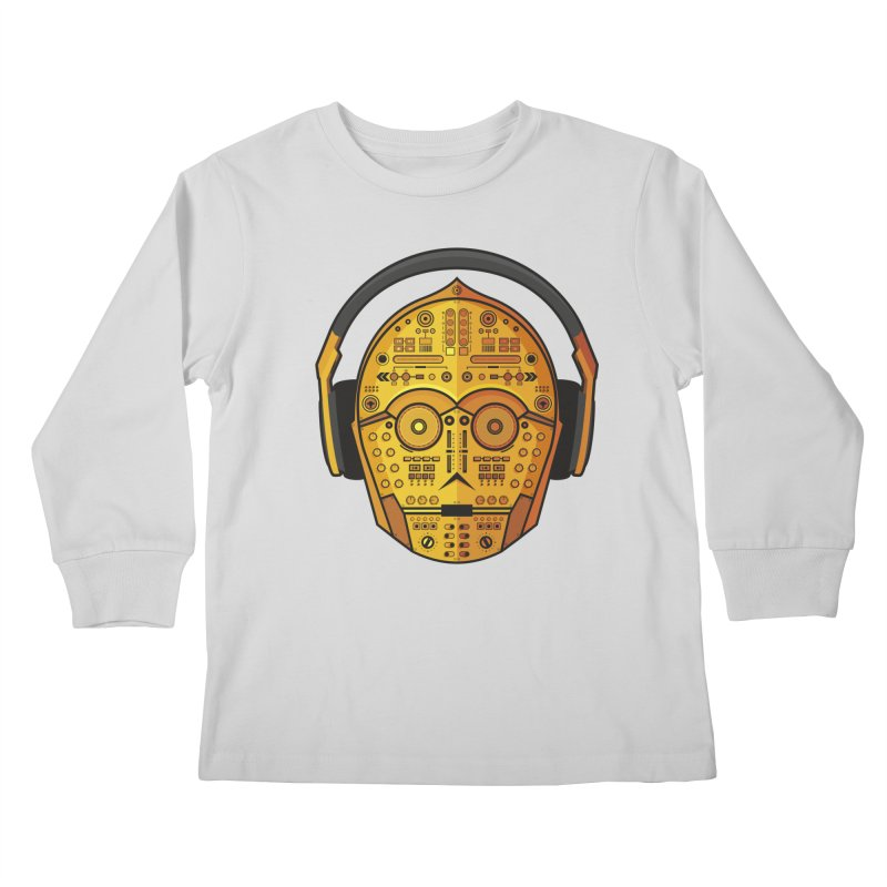 DJ-3PO Kids Longsleeve T-Shirt by Tony Bamber's Artist Shop