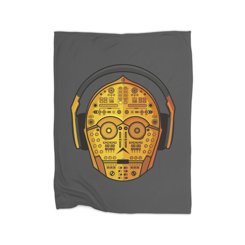 DJ-3PO Home Fleece Blanket Blanket by Tony Bamber's Shop