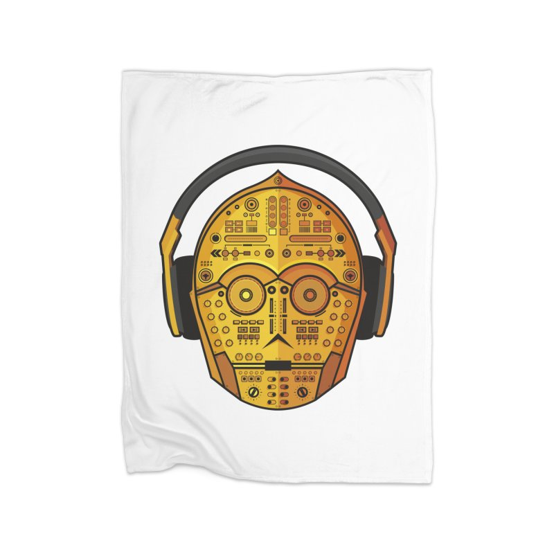 DJ-3PO Home Fleece Blanket Blanket by Tony Bamber's Artist Shop
