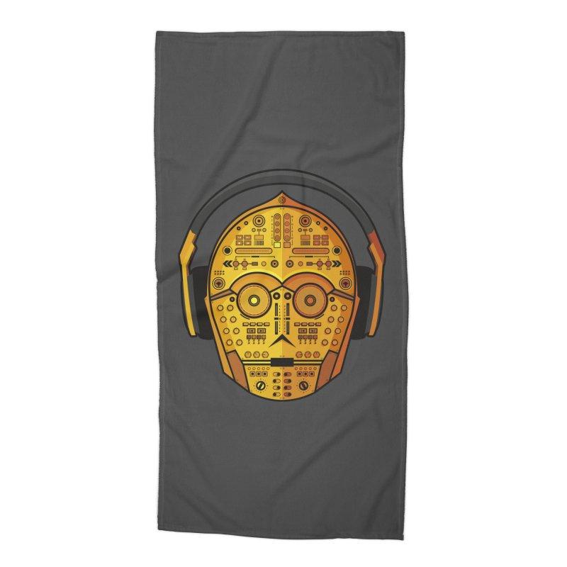 DJ-3PO Accessories Beach Towel by Tony Bamber's Shop