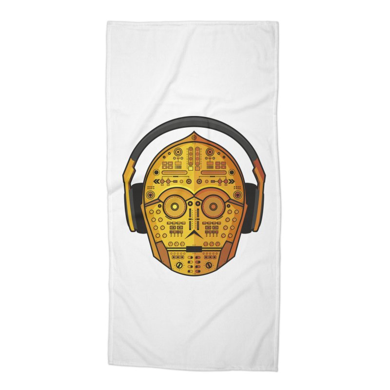 DJ-3PO Accessories Beach Towel by Tony Bamber's Artist Shop