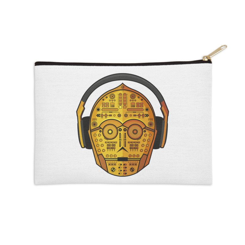DJ-3PO Accessories Zip Pouch by Tony Bamber's Artist Shop