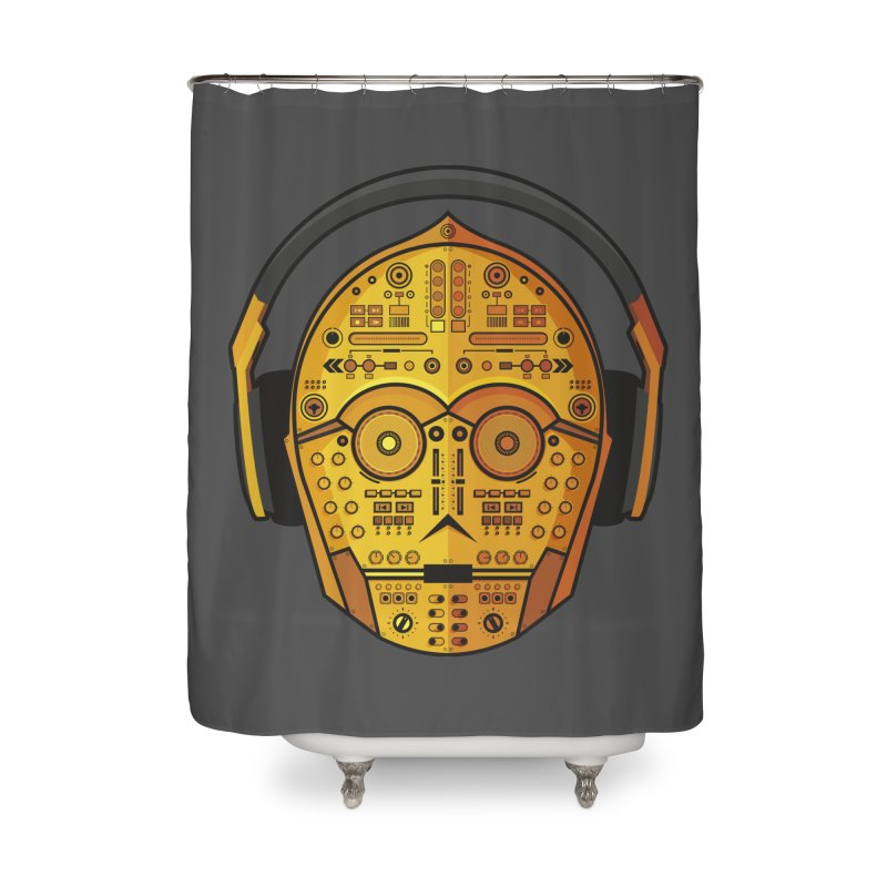 DJ-3PO Home Shower Curtain by Tony Bamber's Shop