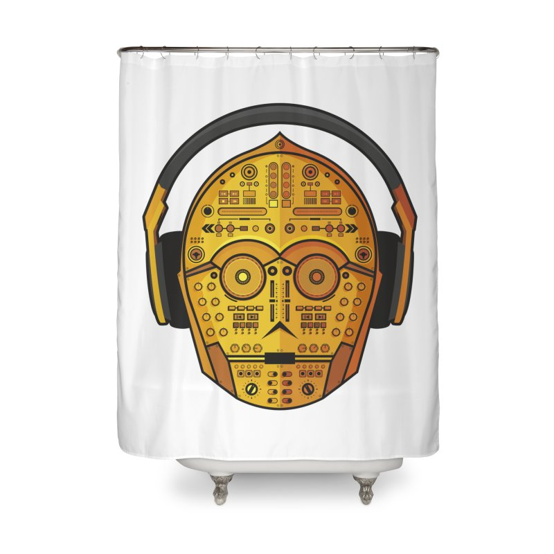 DJ-3PO Home Shower Curtain by Tony Bamber's Artist Shop