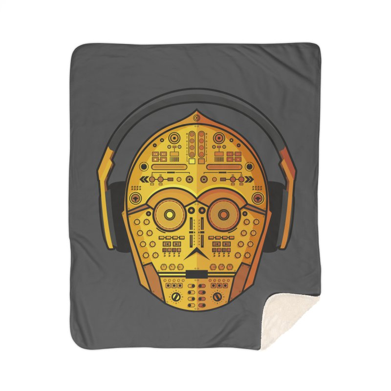DJ-3PO Home Sherpa Blanket Blanket by Tony Bamber's Shop