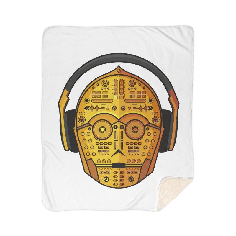 DJ-3PO Home Sherpa Blanket Blanket by Tony Bamber's Artist Shop