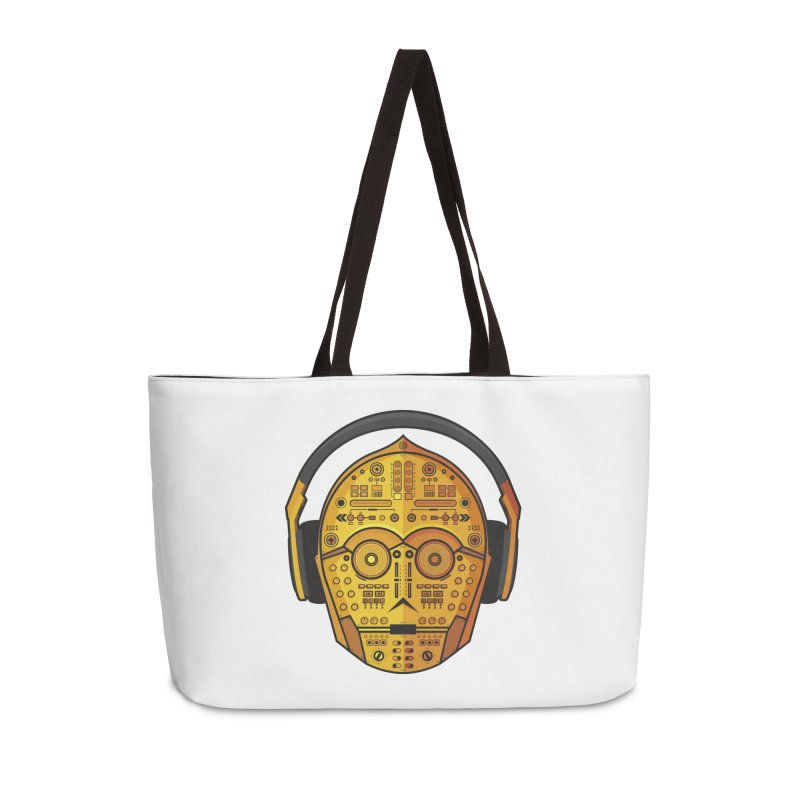DJ-3PO Accessories Weekender Bag Bag by Tony Bamber's Artist Shop