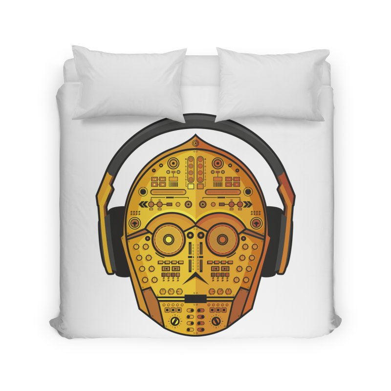 DJ-3PO Home Duvet by Tony Bamber's Artist Shop