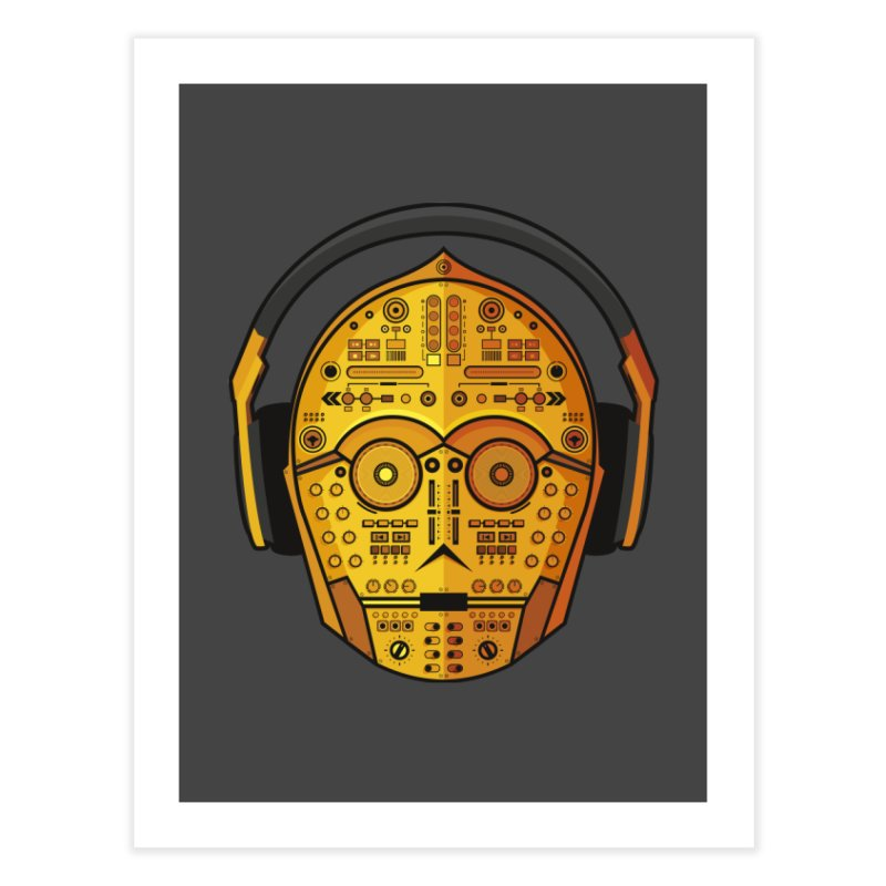 DJ-3PO Home Fine Art Print by Tony Bamber's Shop