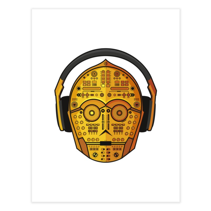 DJ-3PO Home Fine Art Print by Tony Bamber's Artist Shop