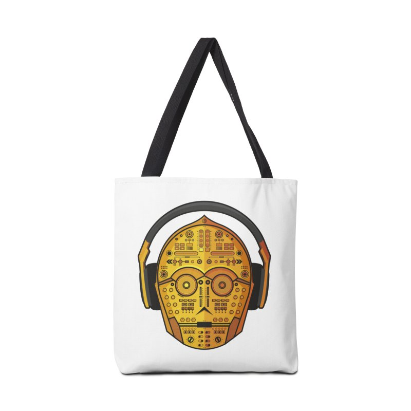 DJ-3PO Accessories Tote Bag Bag by Tony Bamber's Artist Shop
