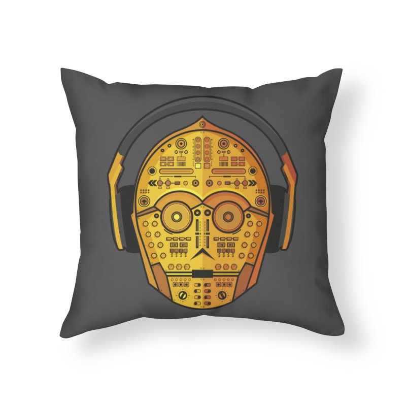 DJ-3PO Home Throw Pillow by Tony Bamber's Shop