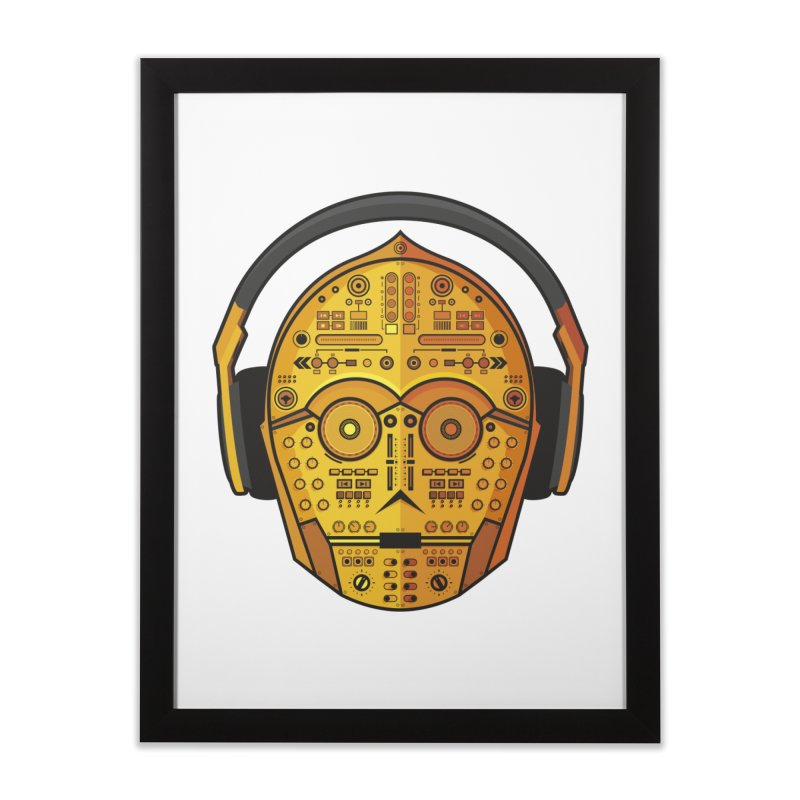 DJ-3PO Home Framed Fine Art Print by Tony Bamber's Artist Shop