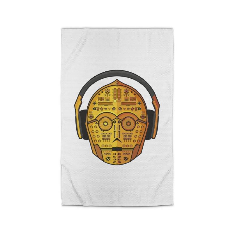 DJ-3PO Home Rug by Tony Bamber's Artist Shop