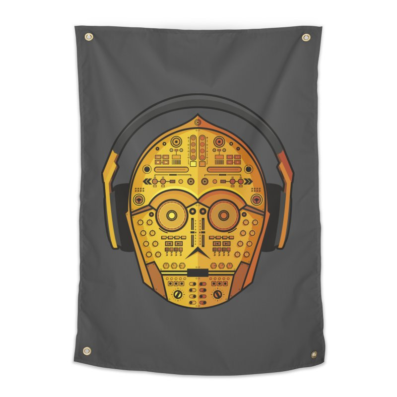 DJ-3PO Home Tapestry by Tony Bamber's Shop