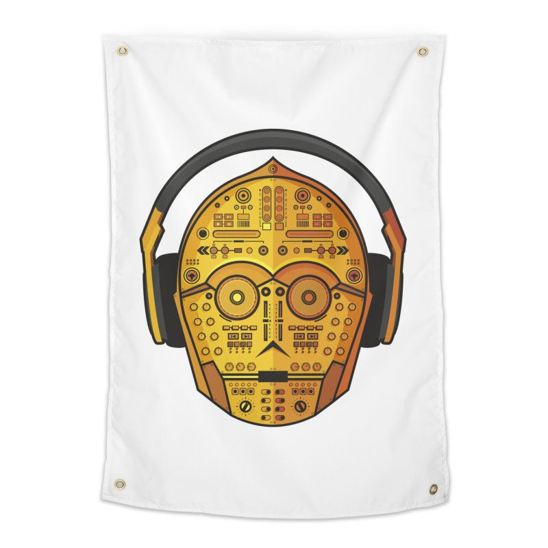 DJ-3PO Home Tapestry by Tony Bamber's Artist Shop