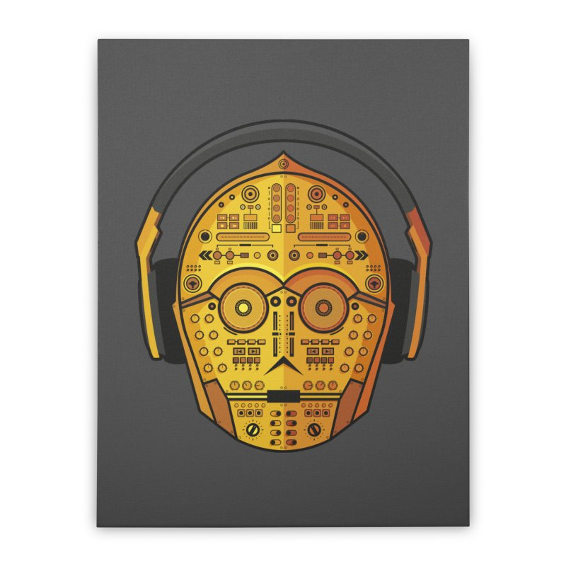 DJ-3PO Home Stretched Canvas by Tony Bamber's Shop