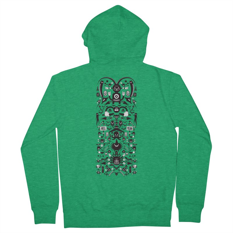Hell Women's French Terry Zip-Up Hoody by Tony Bamber's Artist Shop