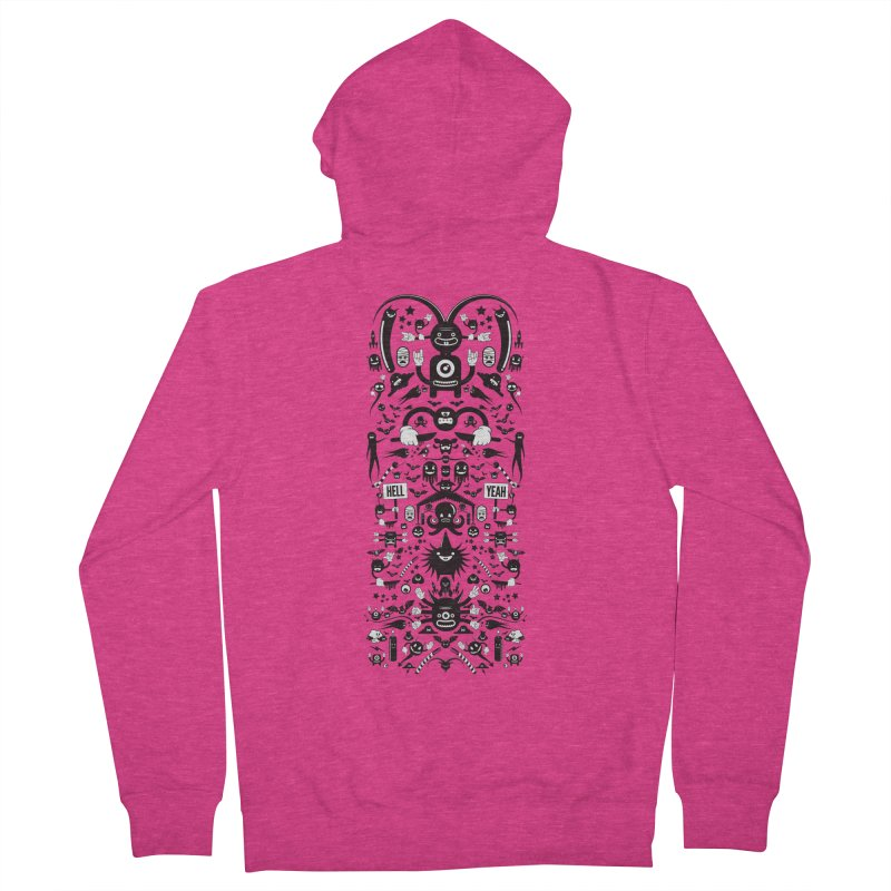 Hell Women's French Terry Zip-Up Hoody by Tony Bamber's Shop