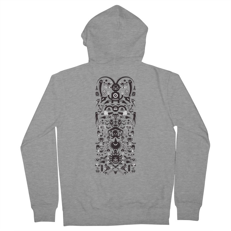 Hell Men's French Terry Zip-Up Hoody by Tony Bamber's Artist Shop