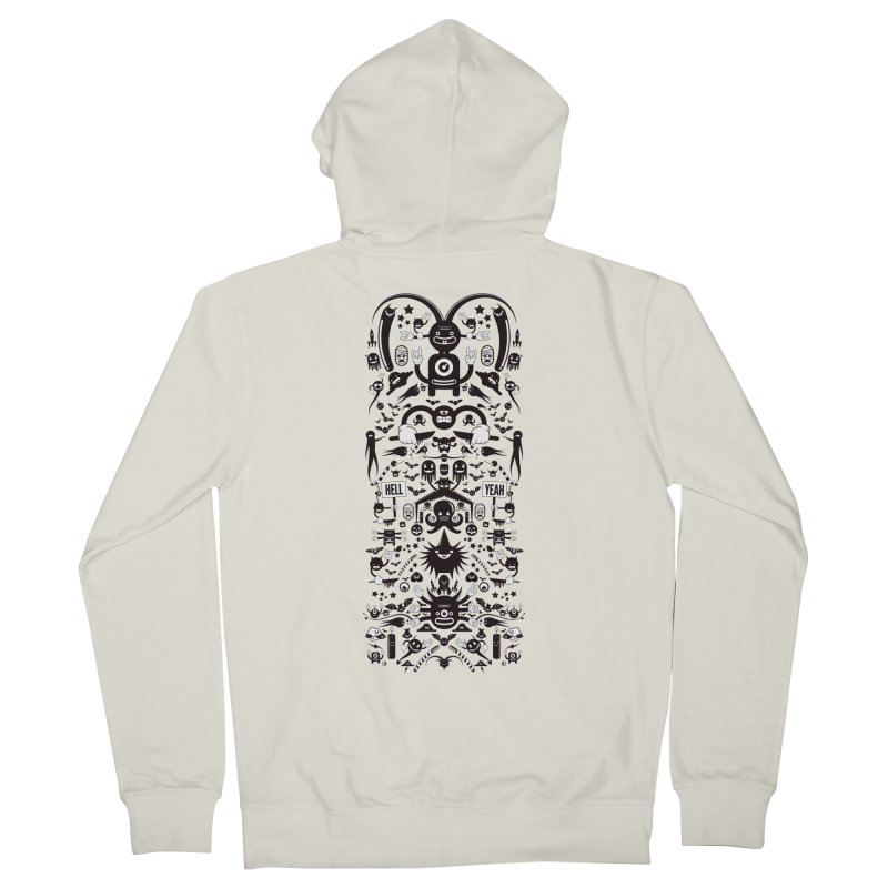 Hell Men's French Terry Zip-Up Hoody by Tony Bamber's Shop