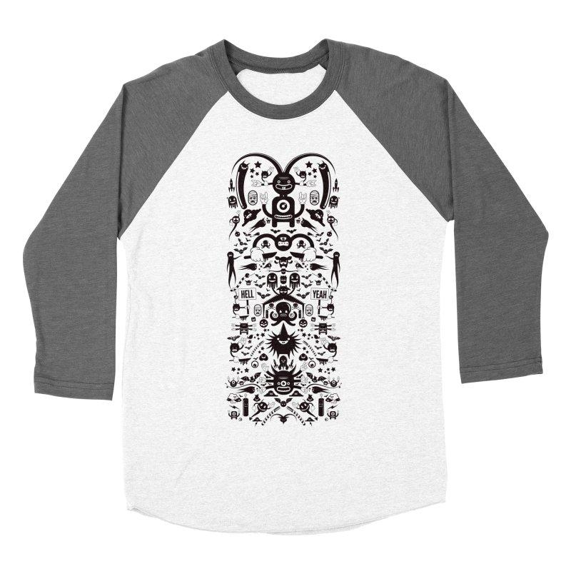 Hell Men's Baseball Triblend Longsleeve T-Shirt by Tony Bamber's Shop