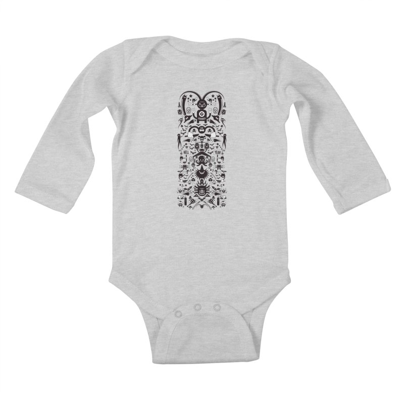 Hell Kids Baby Longsleeve Bodysuit by Tony Bamber's Artist Shop