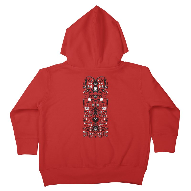 Hell Kids Toddler Zip-Up Hoody by Tony Bamber's Artist Shop