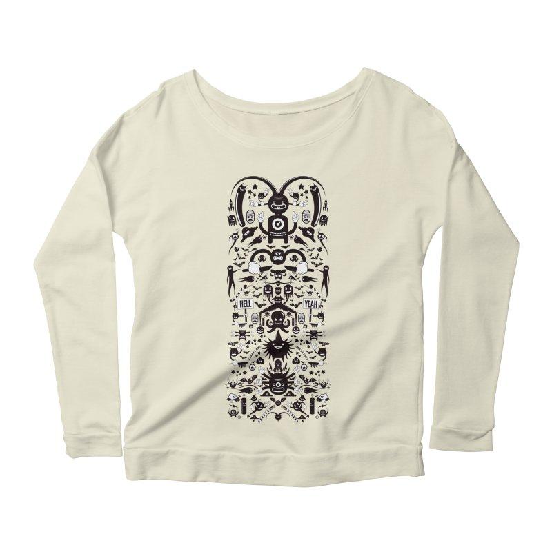 Hell Women's Scoop Neck Longsleeve T-Shirt by Tony Bamber's Shop